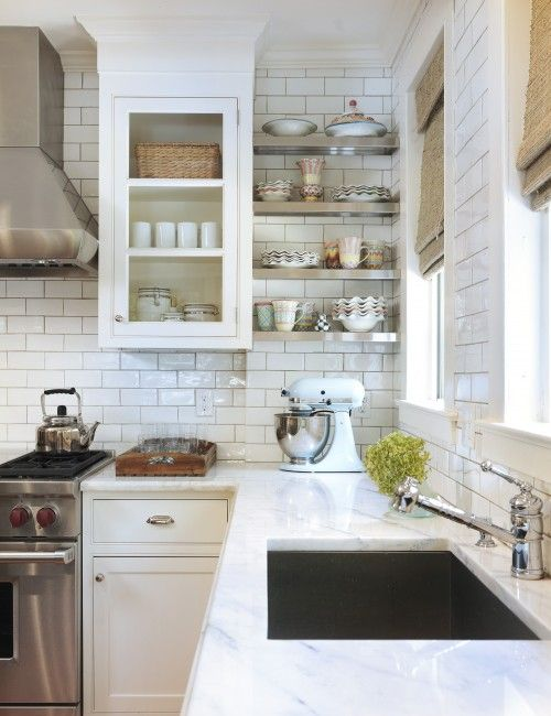 White Subway Tile in Kitchen Design