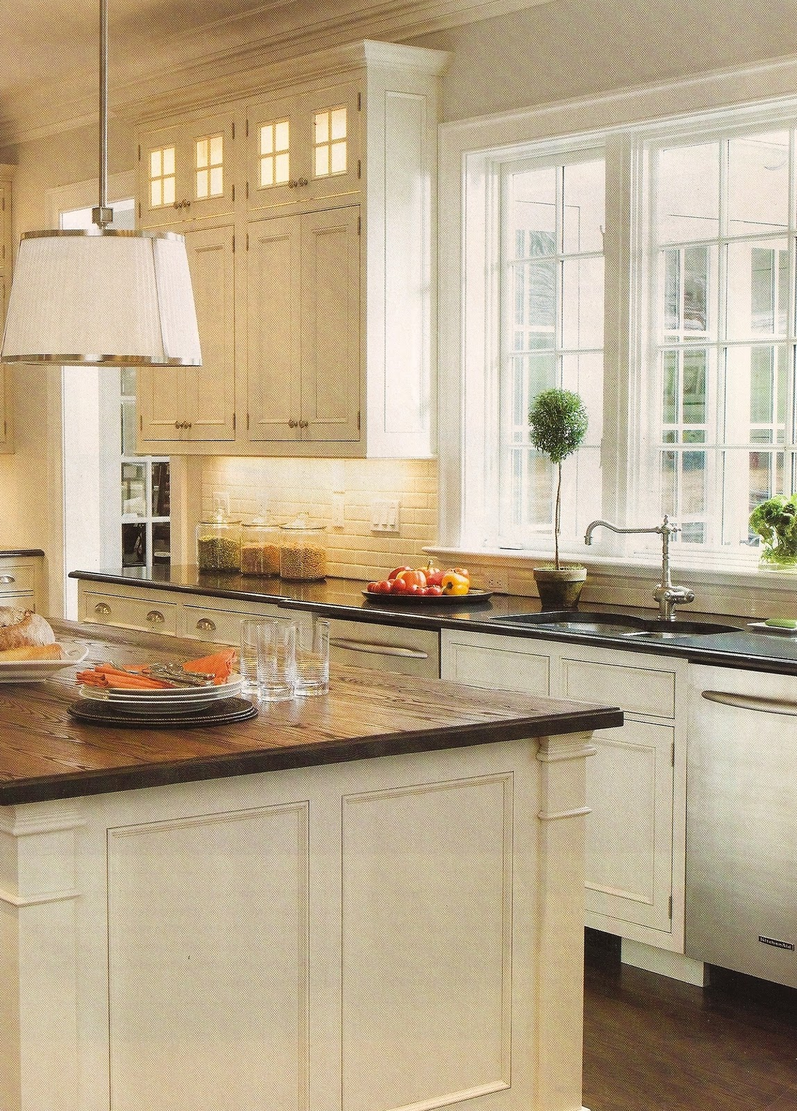 White Wood Kitchen Countertops