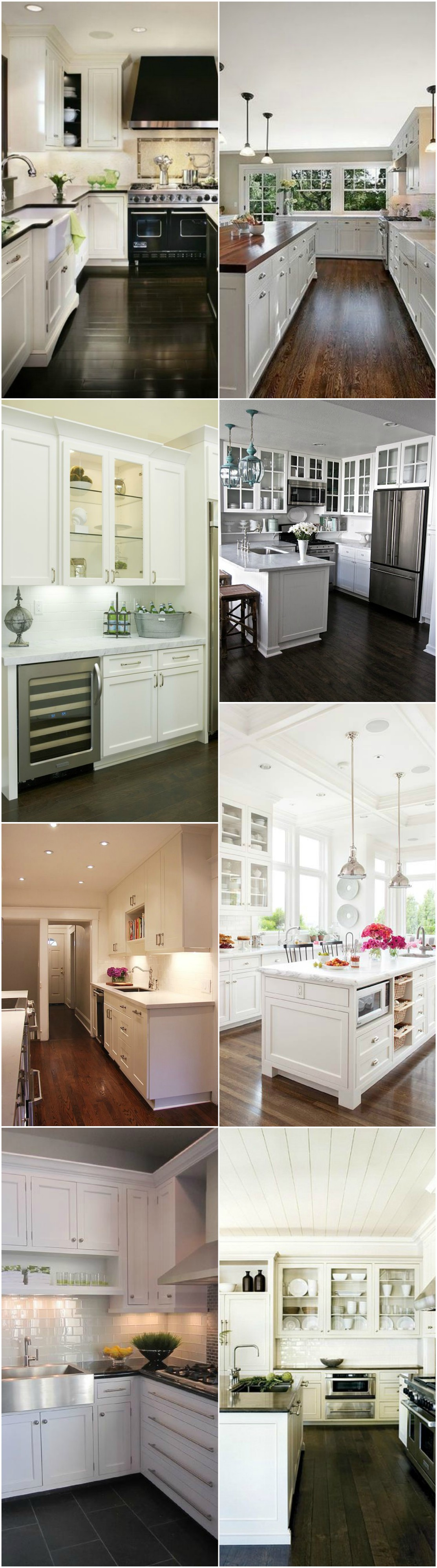 White kitchen with dark floors 2018