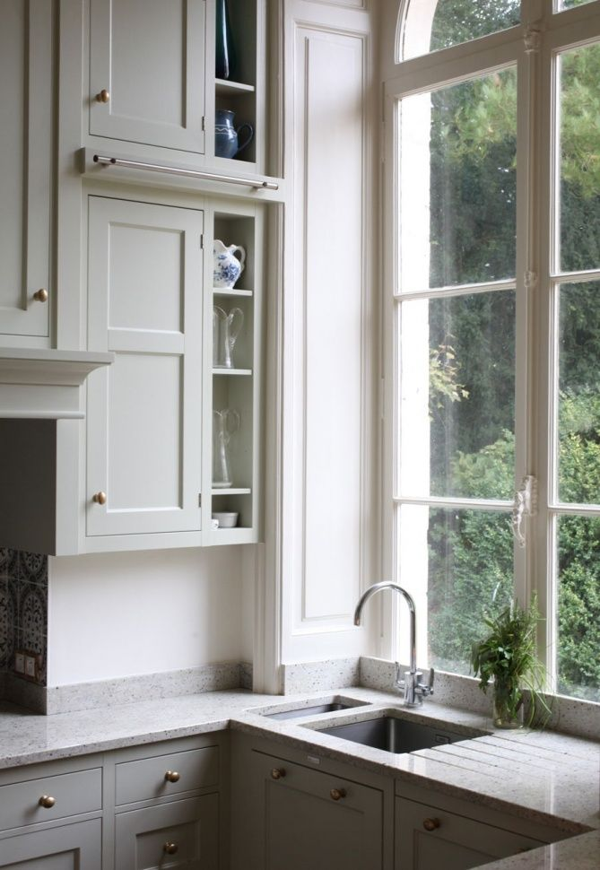 Window Kitchen Sink Cabinets