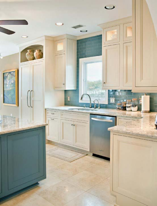 Blue and Cream Kitchen