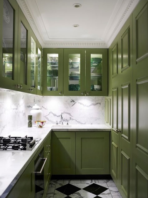 Green Painted Kitchen Cabinet Ideas
