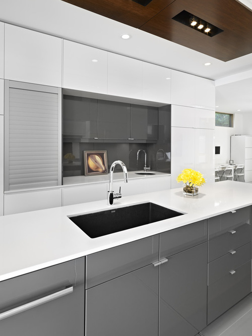 Grey and White IKEA Kitchen Designs
