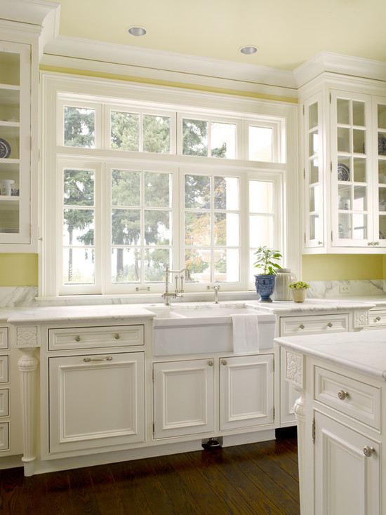 Kitchen Cabinets Yellow Walls and White
