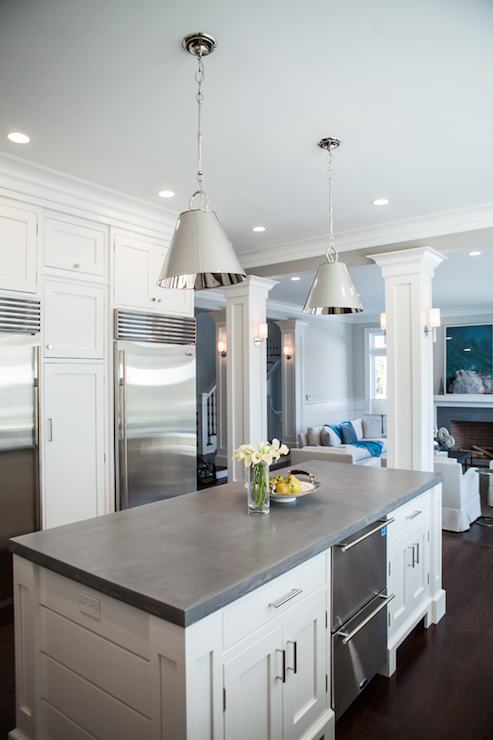 Kitchen Islands with Concrete Countertops