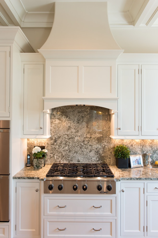Beautiful Hood for White Kitchen