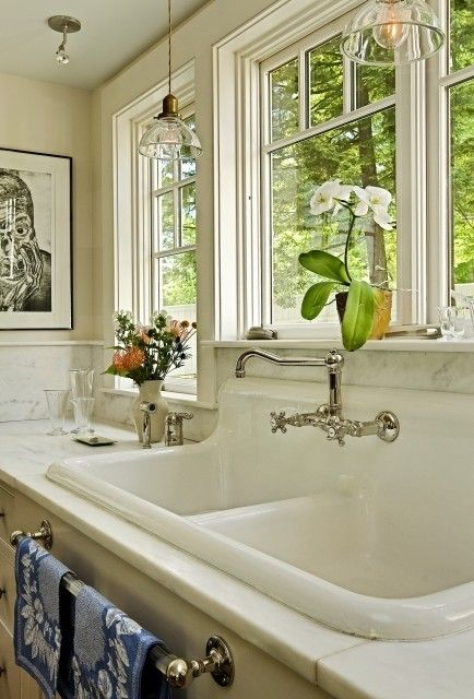 Fabulous Restored Farmhouse Houzz White Kitchen Sink Chrome Faucets
