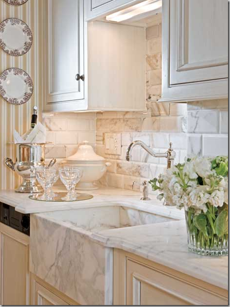 Marble Farmhouse Kitchen Sink