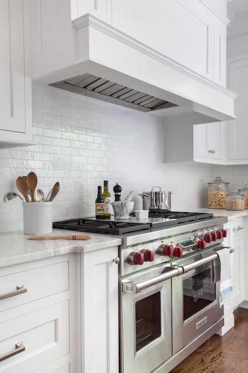 Mini White Subway Tile Kitchen