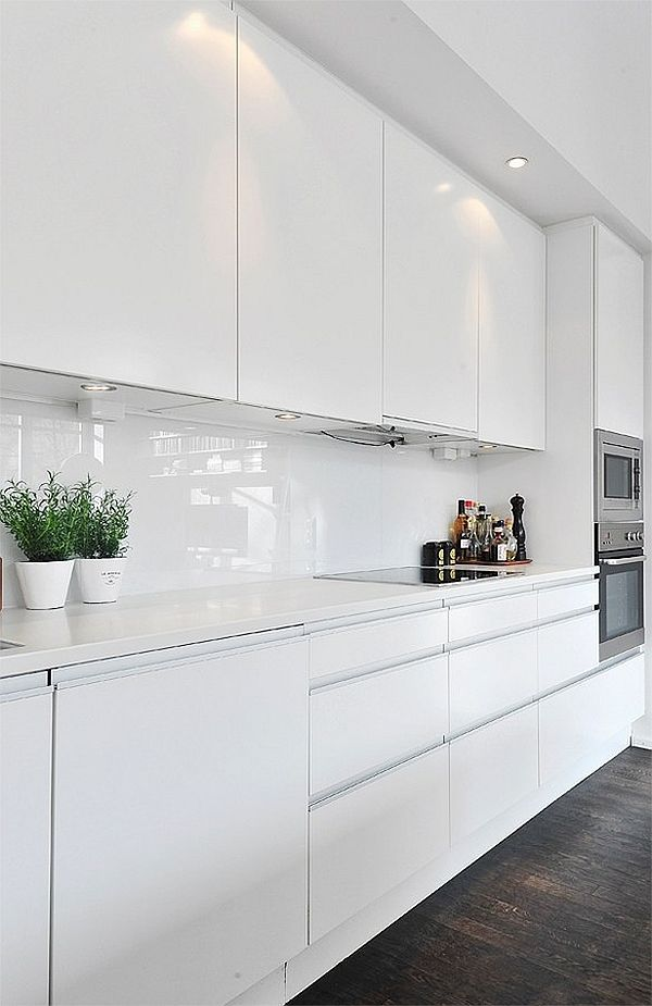 Modern White Gloss Kitchen Cabinets