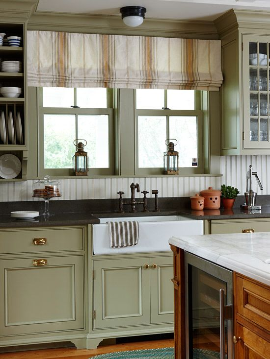 Moss Green Kitchen Cabinets