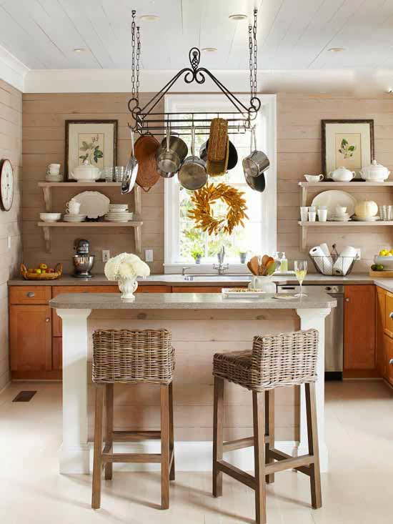 Small Kitchens with Open Shelves