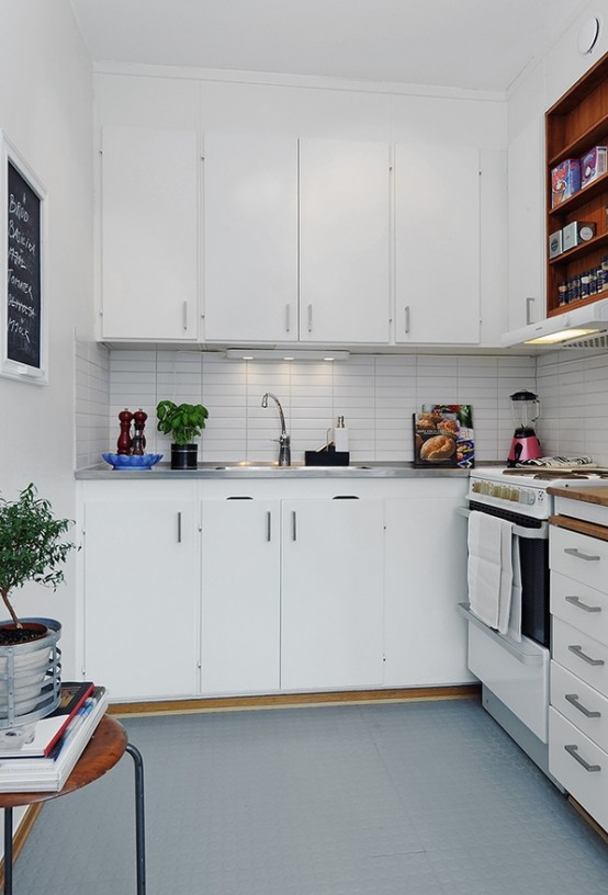 Small One Room Apartment Kitchens