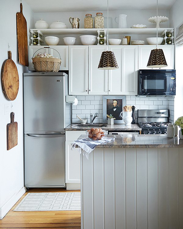 Small above Kitchen Cabinets