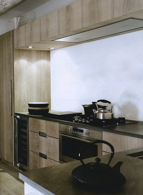 Timber and Black Kitchen