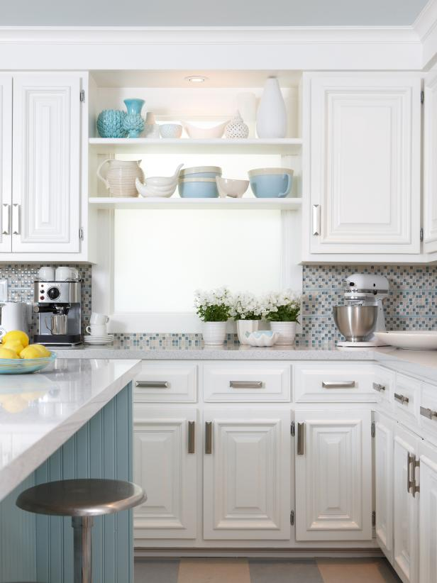 White Cottage Kitchen HGTV