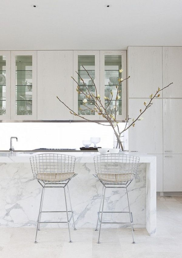 White Counter Stools for Kitchen Island