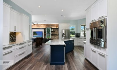 38 Beautiful White Kitchen With Blue effects