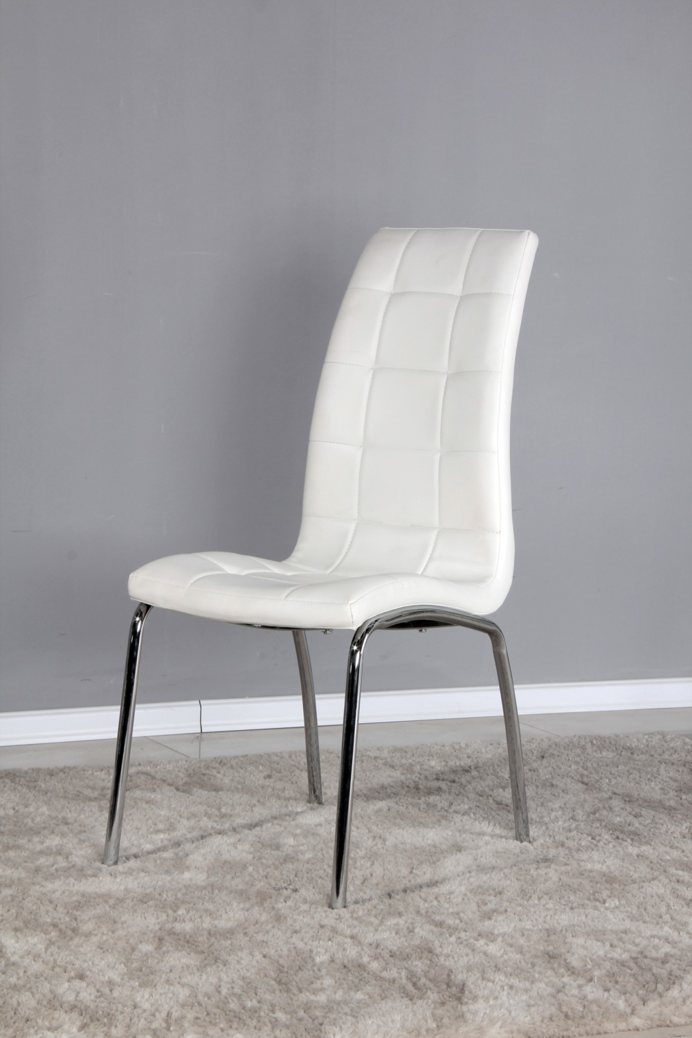 White Kitchen Chairs with Padded Seat