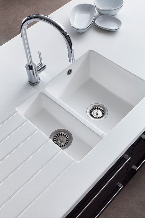White Kitchen Sink