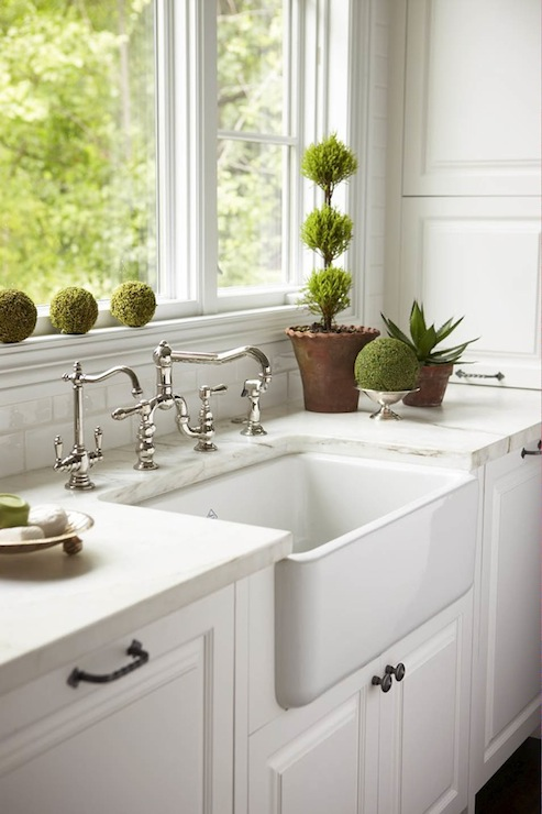 White Kitchen with Farmhouse Sink