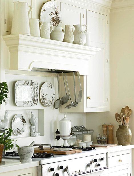 White Kitchens with Vent Hoods