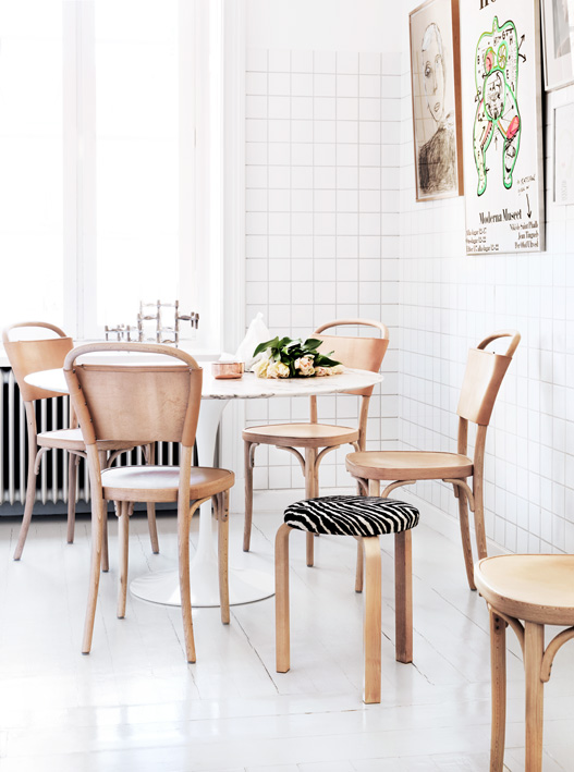 White Leather Kitchen Chair