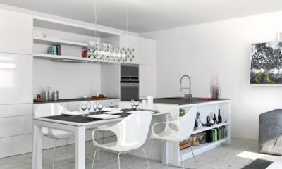 37 Beautiful White Kitchen With Apartment
