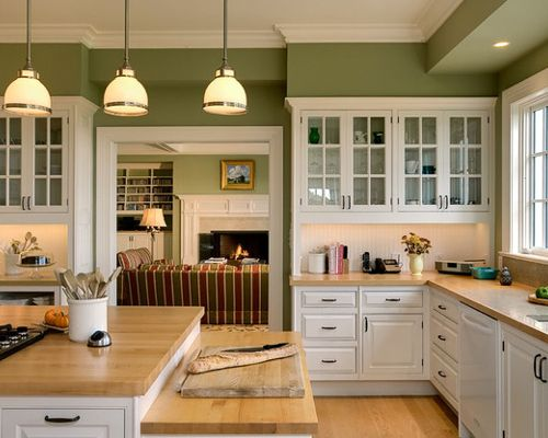 White kitchen green 1