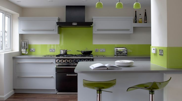 White kitchen green 3