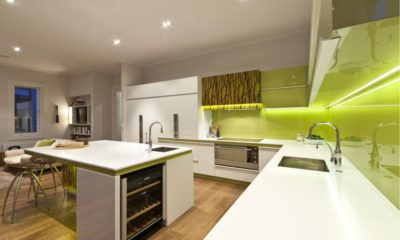 35 Best Green Effects in White Kitchen