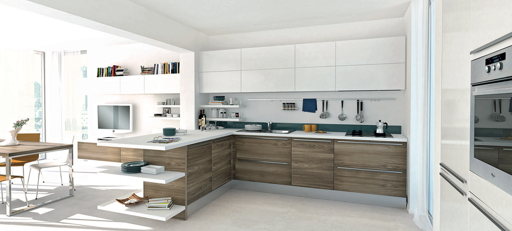 White Kitchen Wooden 2