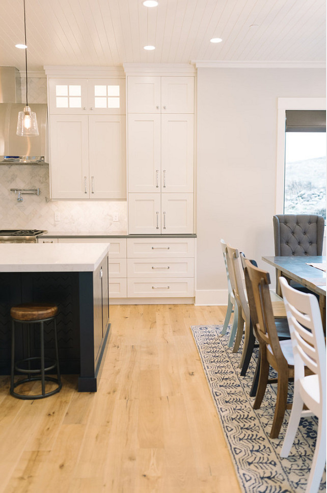 Wide Plank Floors with Kitchen
