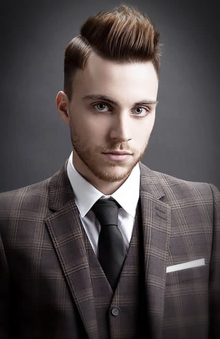 Best Men hairstyle with suits 2018 25