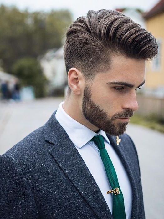 Best Men hairstyle with suits 2018