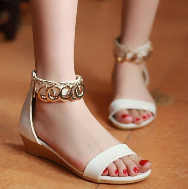 Cute flat footwear for girls 2018 4