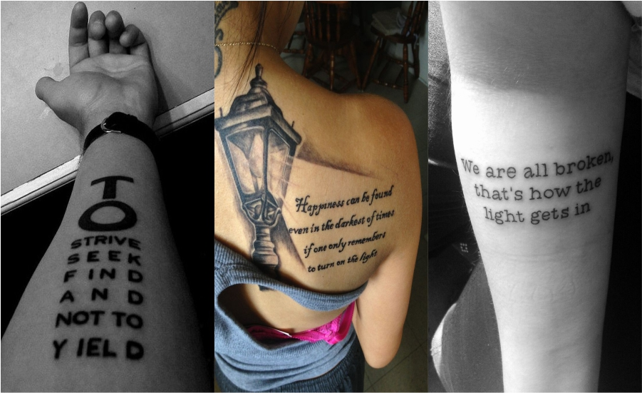 Inspirational quotes tattoo ideas 2018 Feture