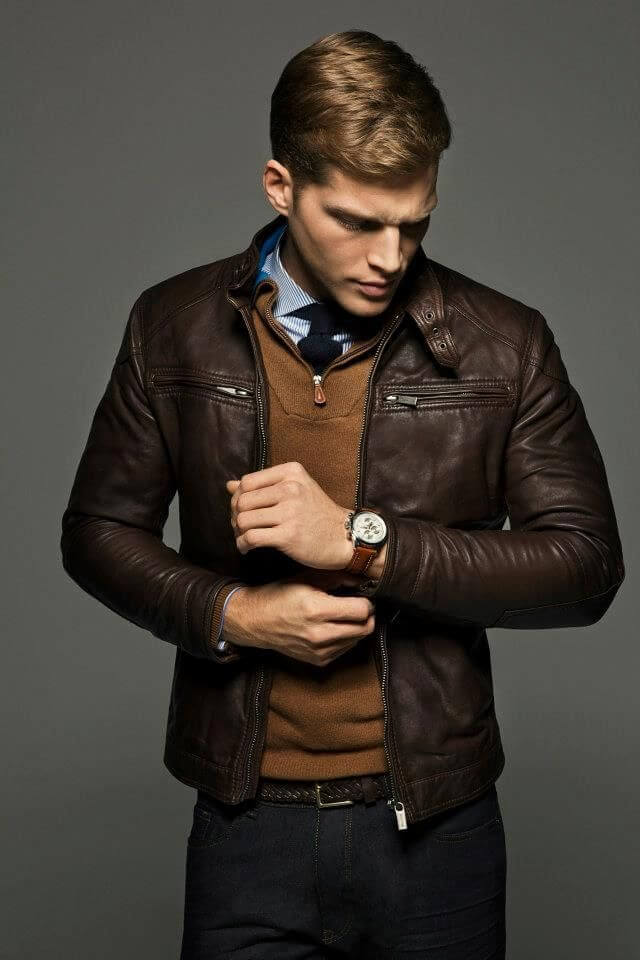 Men's Leather Jackets for Winter 2018 13