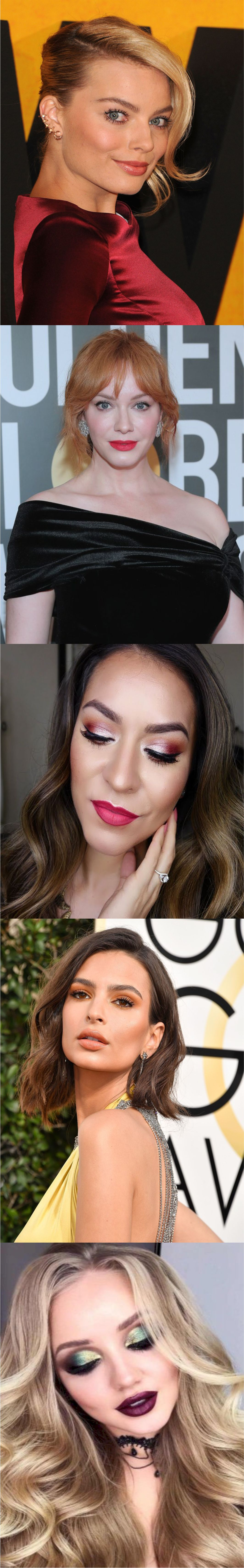 New Glamour's pink lipstick makeup idea 2018