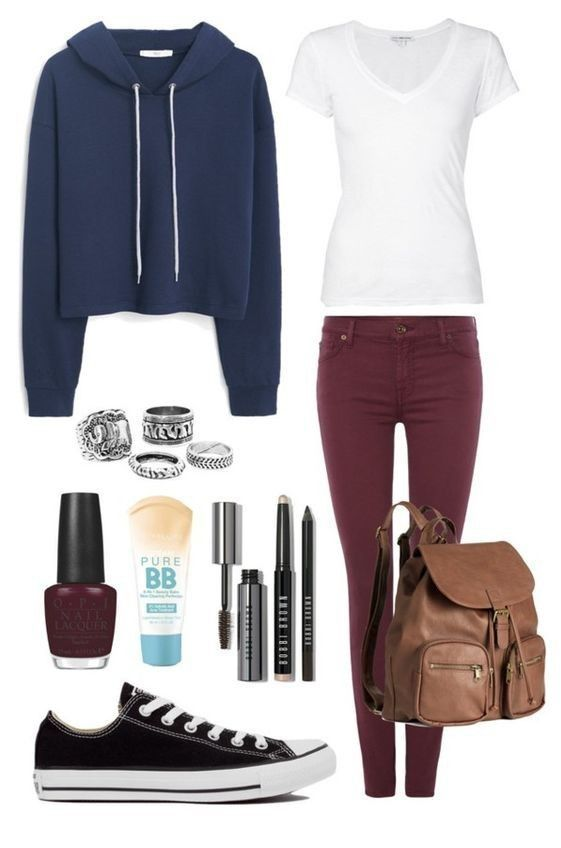 Pretty and stylish outfits for school girls 2018 32