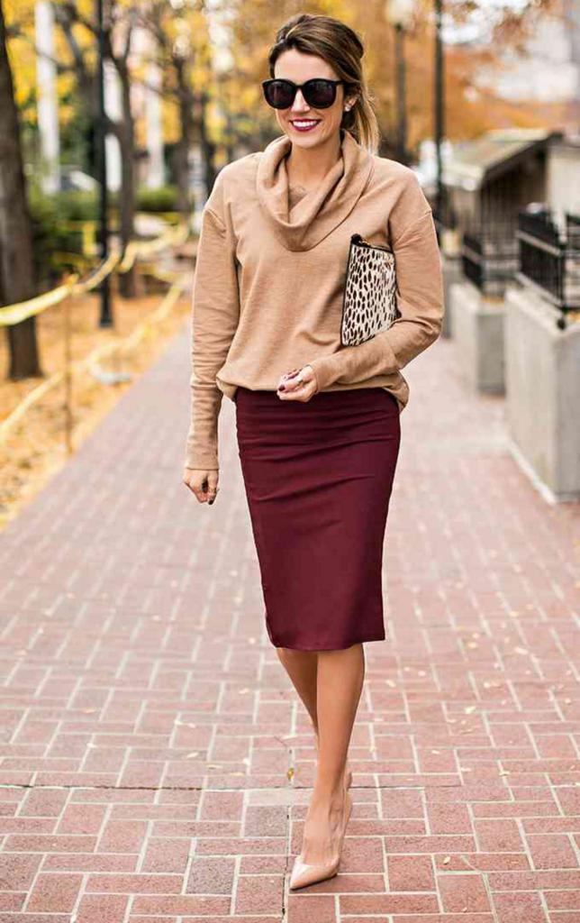 Sophisticated Office wear Skirt ideas 2018 28