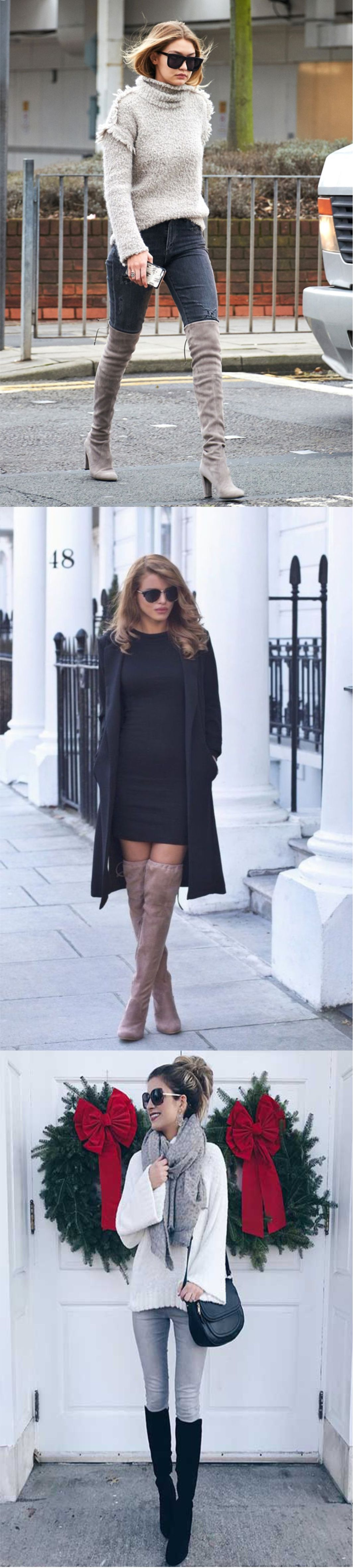All New Stylish Over Knee Boots Fashion Ideas 2018
