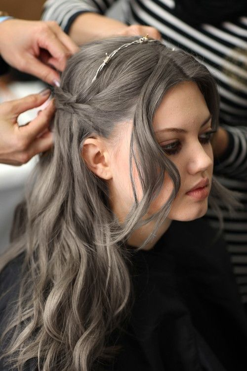 Grey Blue Hair Color Trend For Women 1