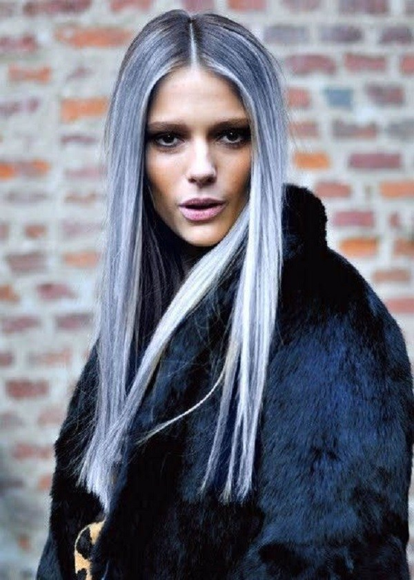 Grey Blue Hair Color Trend For Women 10.