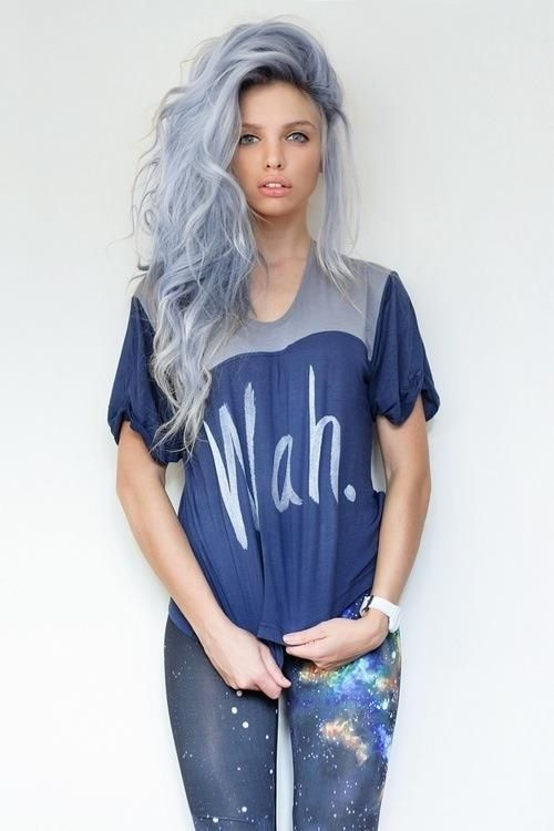 Grey Blue Hair Color Trend For Women 11