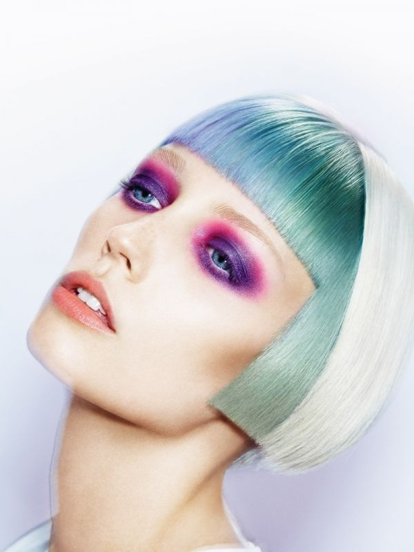 Grey Blue Hair Color Trend For Women 12