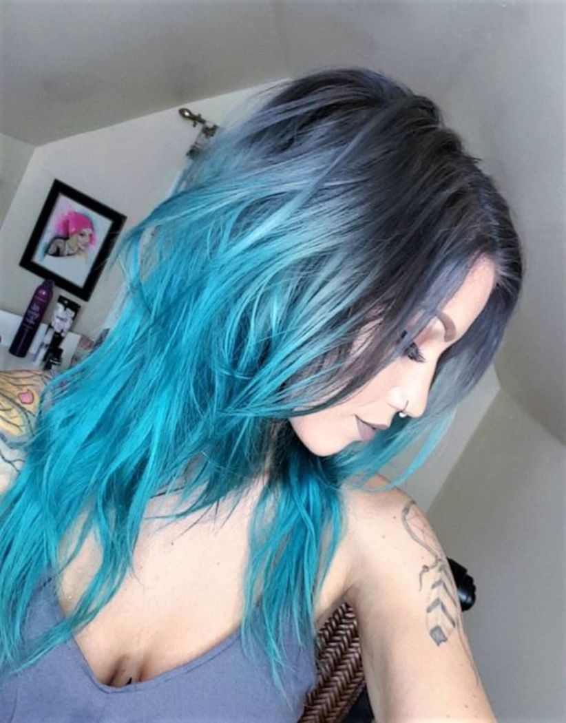 Grey Blue Hair Color Trend For Women 15