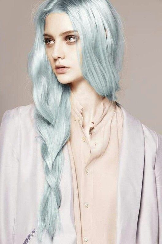Grey Blue Hair Color Trend For Women 17