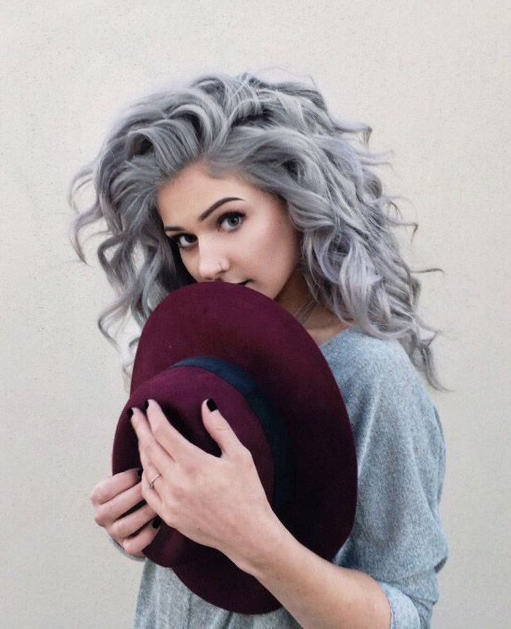 Grey Blue Hair Color Trend For Women 18
