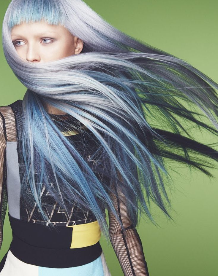 Grey Blue Hair Color Trend For Women 19